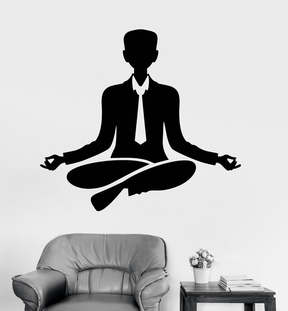 meditation office. Vinyl Wall Decal Office Worker Relax Meditation Yoga Stickers Unique Gift (ig3934)