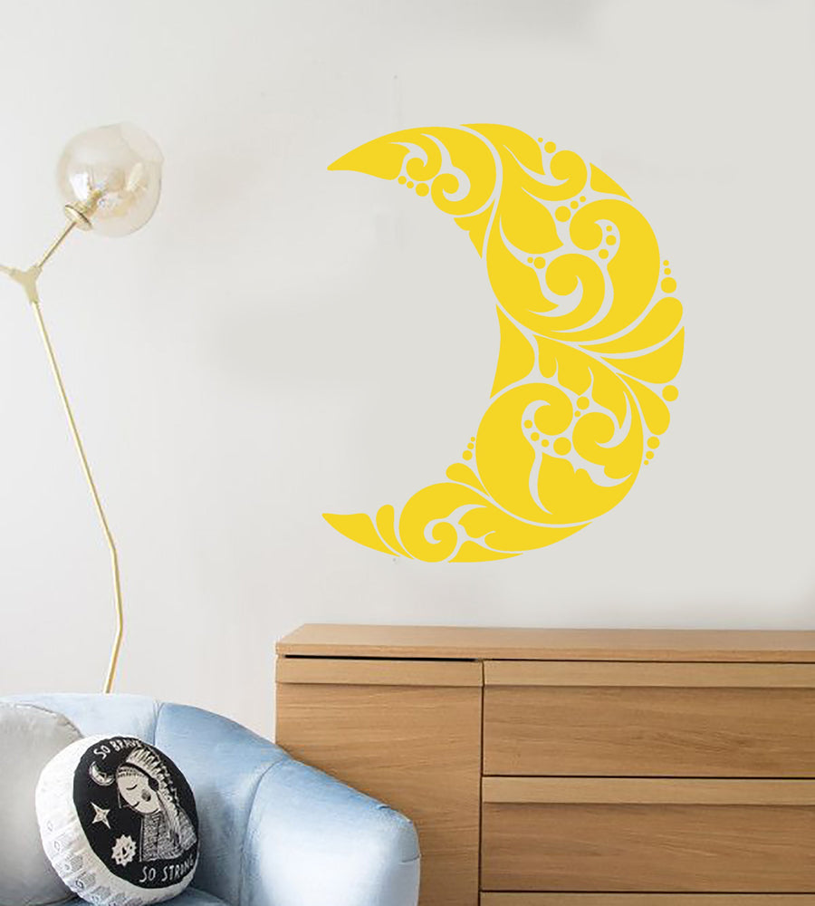 Vinyl Wall Decal Art Abstract Moon Room Decoration Stickers (2448ig ...