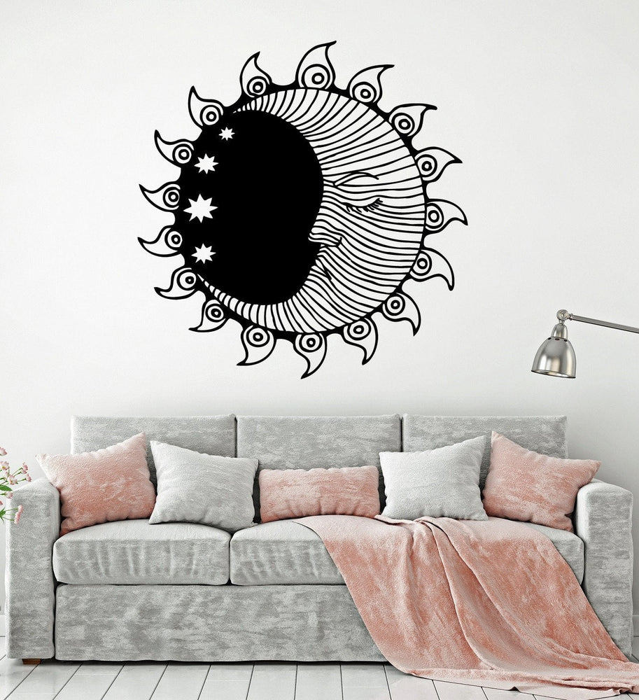 Vinyl Wall Decal Sun Moon Stars Bedroom Room Decoration Interior Stick Wallstickers4you
