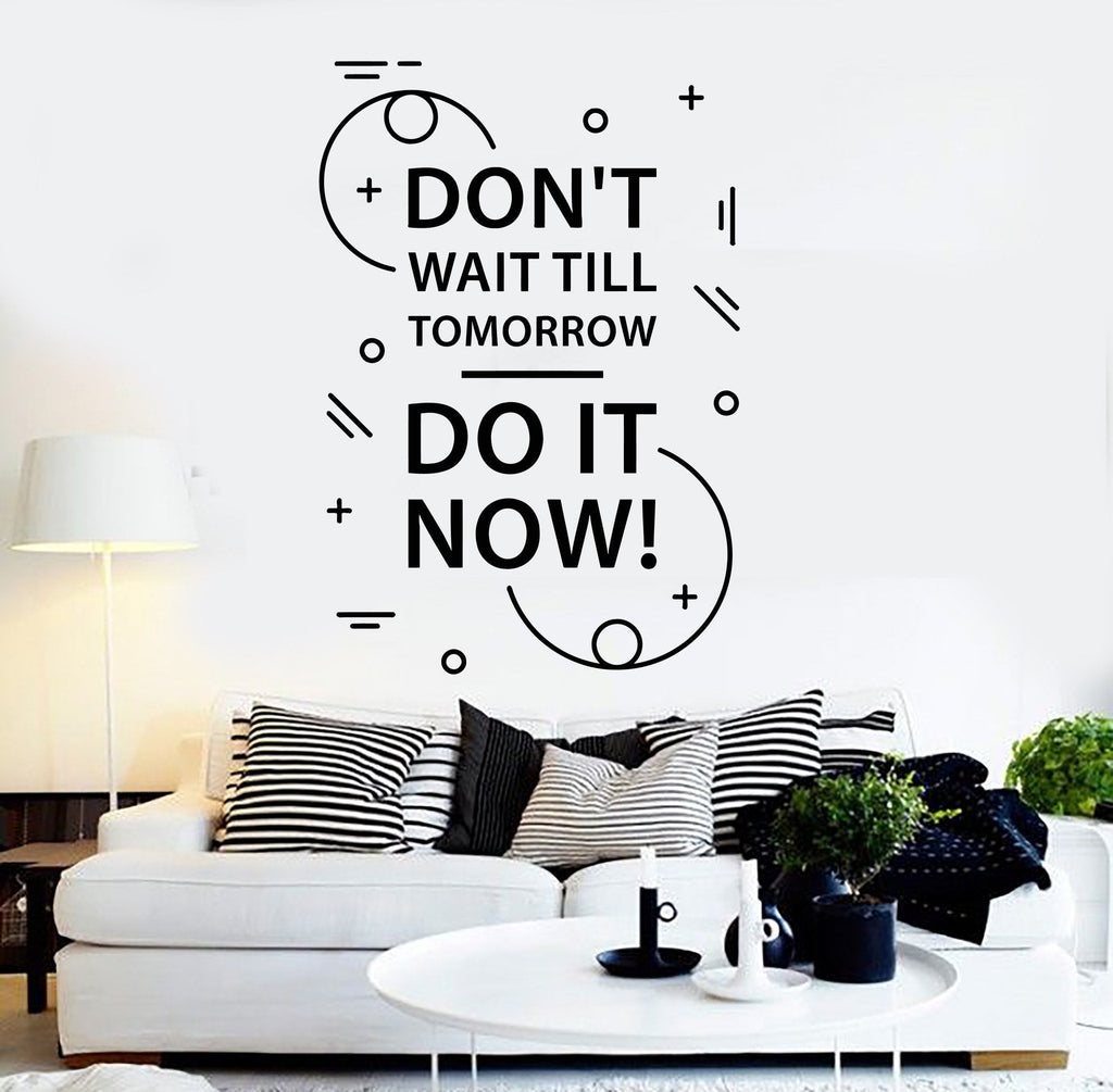 Vinyl Wall Decal Motivation Quote Inspire Room Stickers Mural - Wall decals motivational quotes