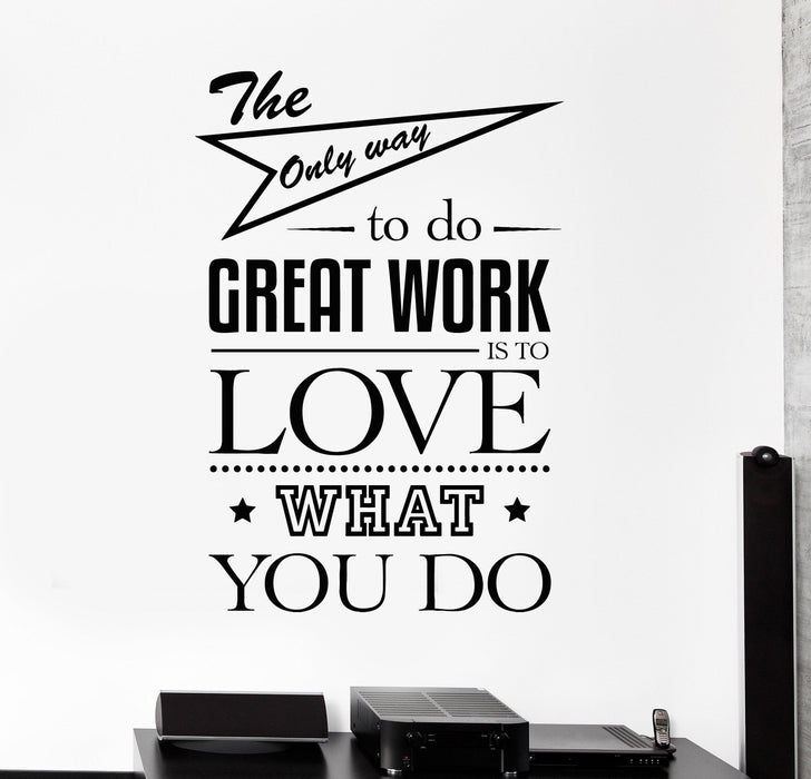 Vinyl Wall Decal Office Quote Art Motivation Decor Stickers Murals Unique Gift (ig4689)