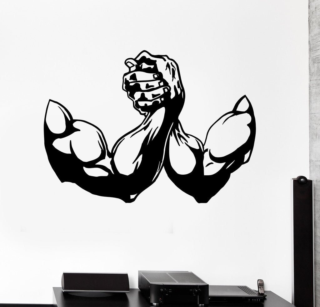 Vinyl Wall Decal Muscle Bodybuilding Fitness Gym Sports
