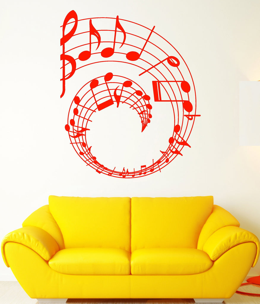 Vinyl Wall Decal Notes Art Music Decor Clef Music School Stickers ...