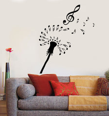 Vinyl Wall Decal Abstract Dandelion Notes Music Flower Clef Stickers (2168ig)