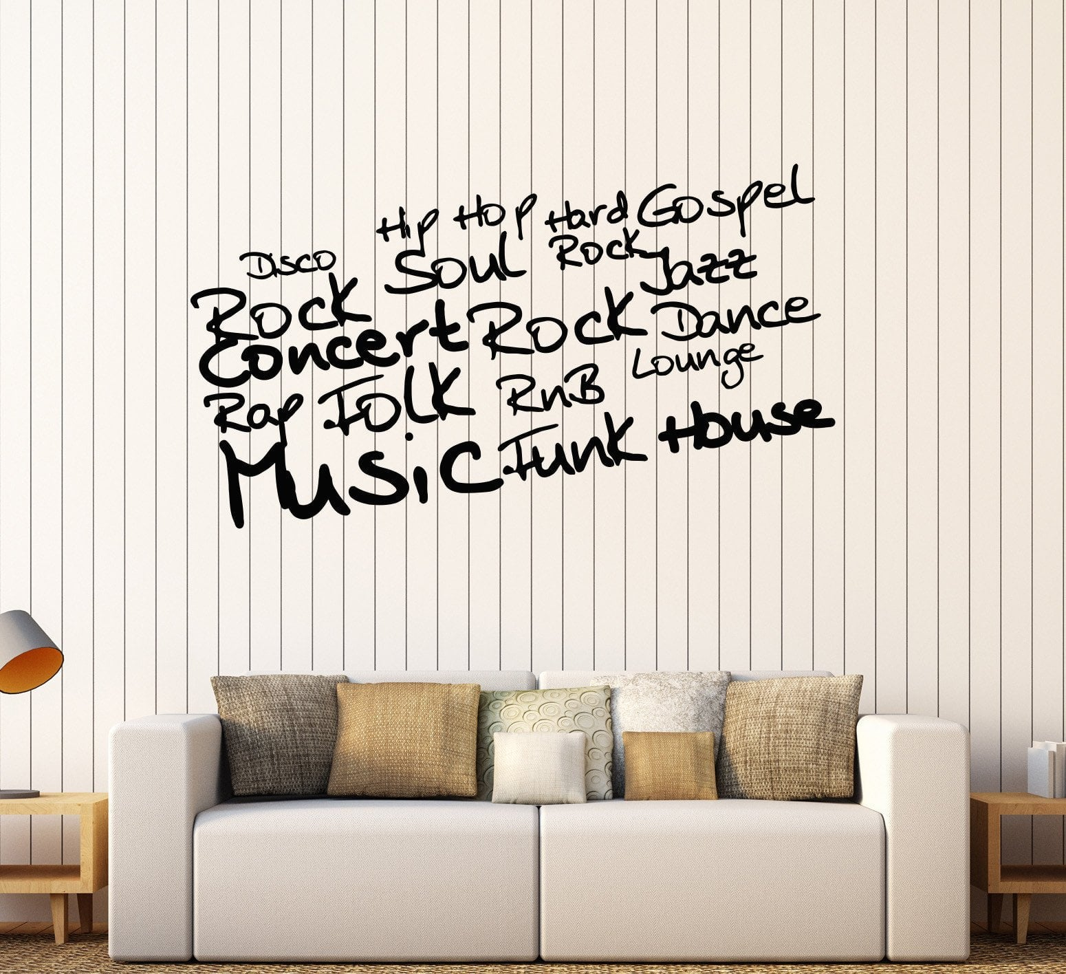 Music Is Love In Search Of A Word Vinyl Decal Wall Sticker Words Home Decor