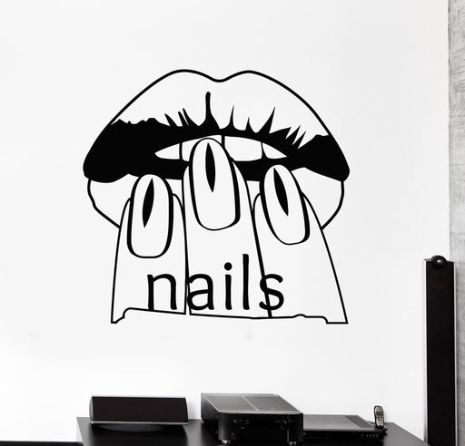 Vinyl Wall Decal Nail Salon Beauty Woman Manicure Spa Stickers Unique Gift (467ig)