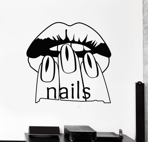 Vinyl Wall Decal Nail Salon Beauty Woman Manicure Spa Stickers (467ig)