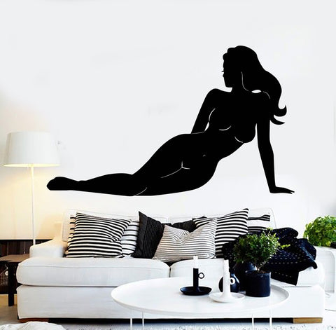 Wall Sticker Vinyl Decal Silhouette Naked Sexy Girl Nude Art Murals (ig352)