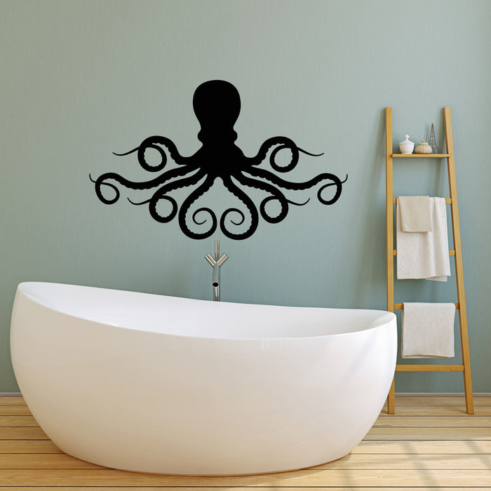 Vinyl Wall Decal Silhouette Sea Animal Octopus Tentacles Stickers (3867ig)
