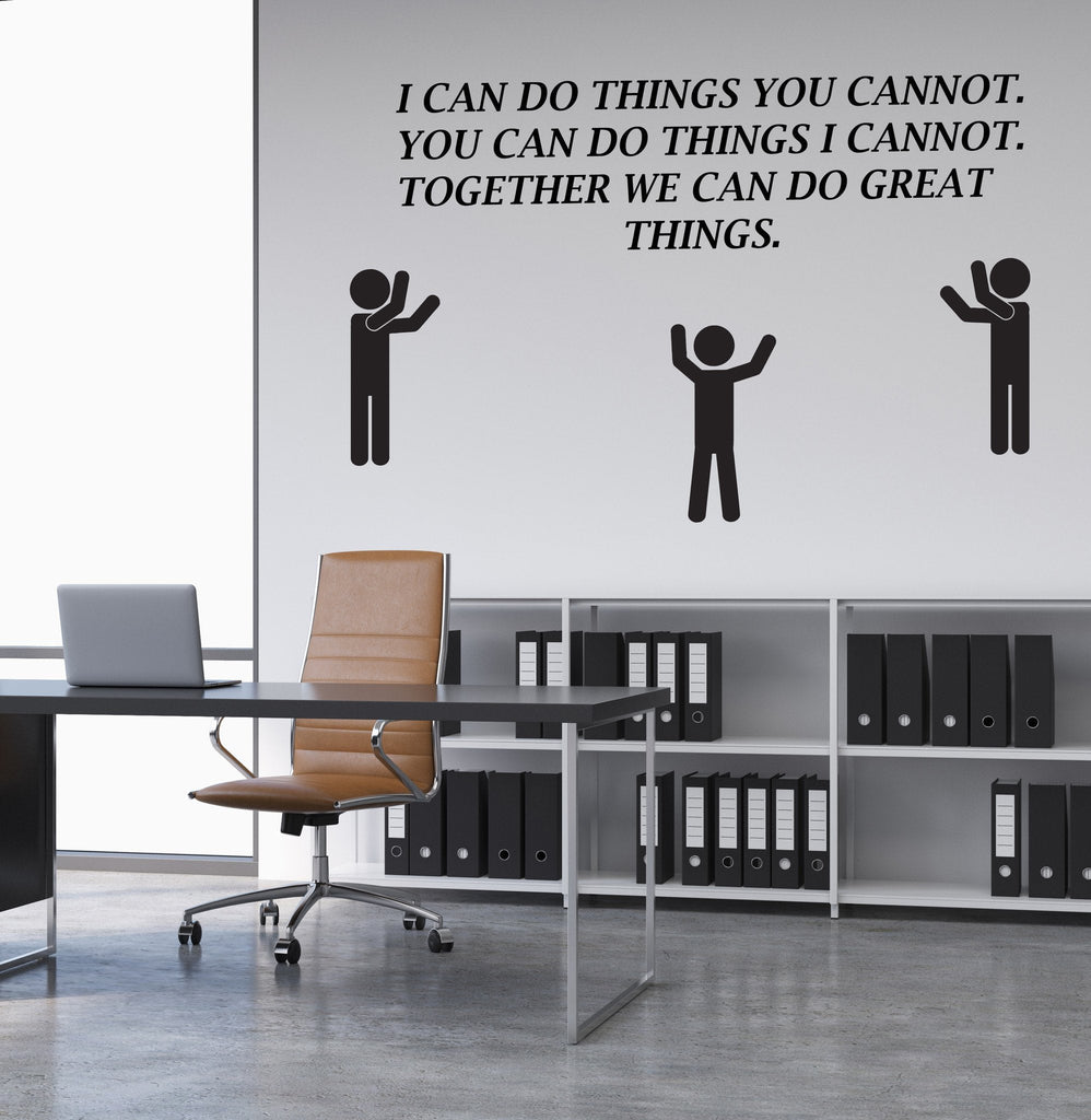 wall decal for office. vinyl wall decal motivation quote office team teamwork inspire - decals for