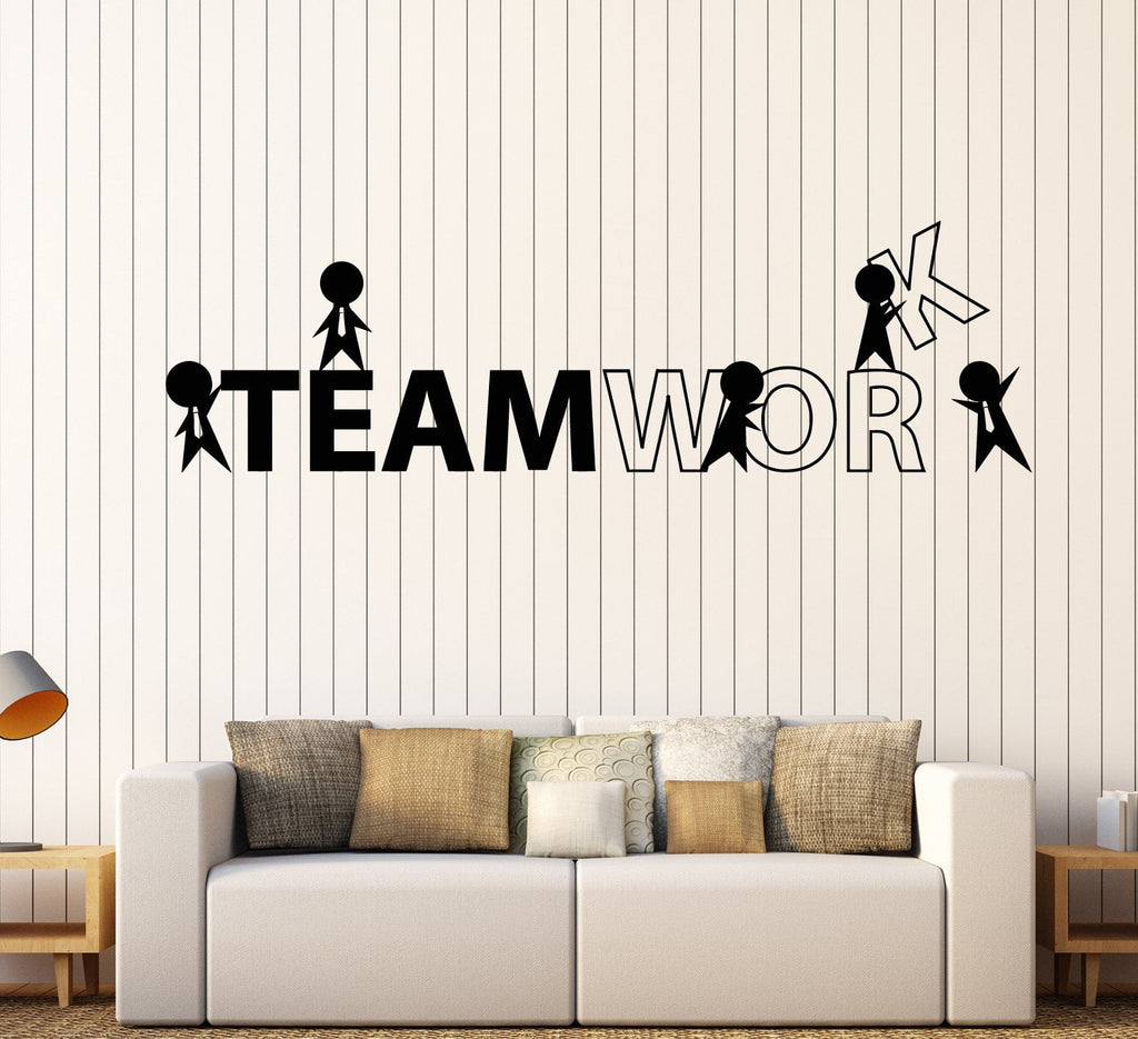 Vinyl Wall Decal Office Worker Style Teamwork Cartoon People Stickers  Unique Gift (1757ig)