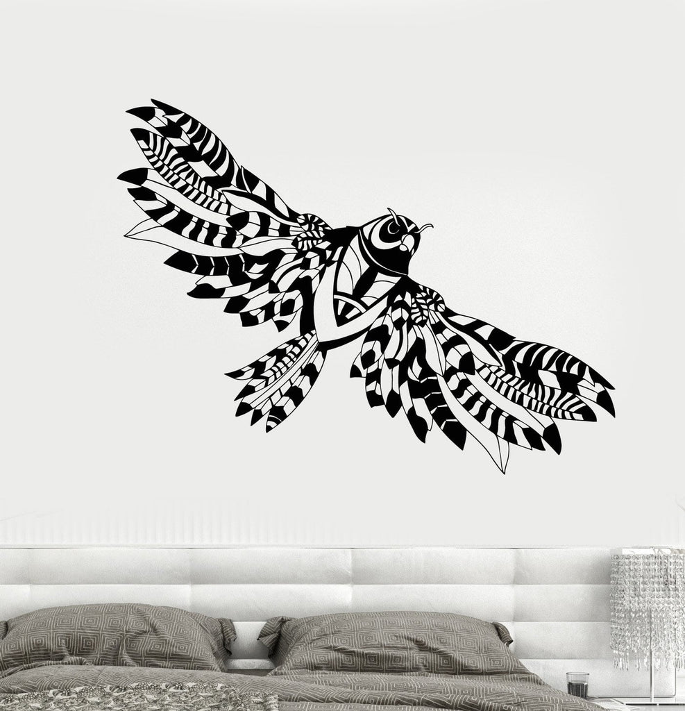 Vinyl Wall Decal Abstract Flying Owl Wings Bird Stickers Unique Gift (1833ig)  sc 1 st  Wallstickers4you & Vinyl Wall Decal Abstract Flying Owl Wings Bird Stickers Unique Gift ...