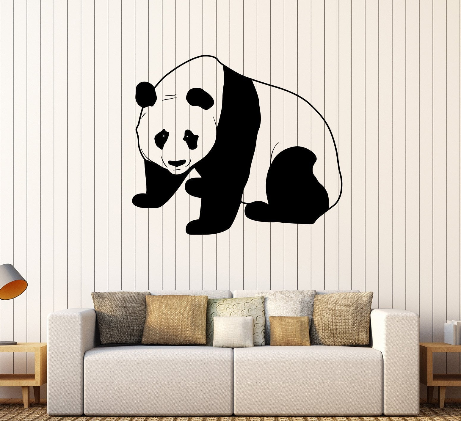 Vinyl Wall Decal Cute Panda Bear Child Room Nursery Decorating Stickers  Unique Gift (304ig)