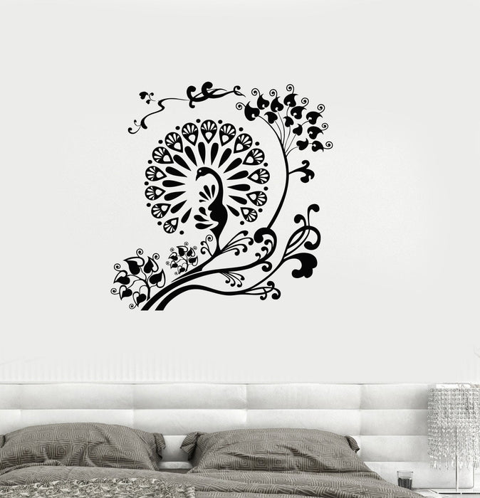 Vinyl Decal Peacock Beautiful Bird Room Decoration Wall Stickers Unique Gift (ig2676)