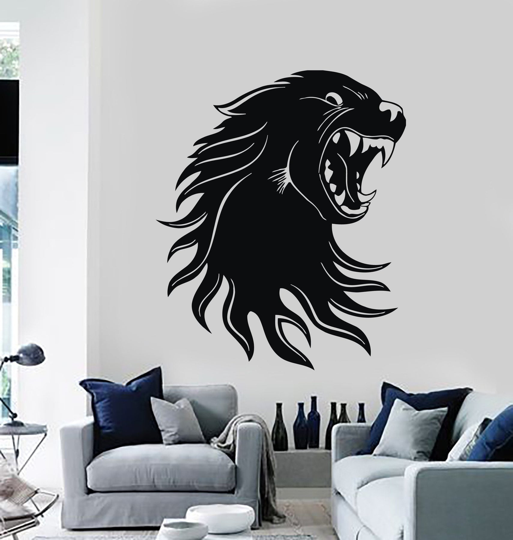 Tap or pinch to zoom wall stickers vinyl decal cougar panther predator
