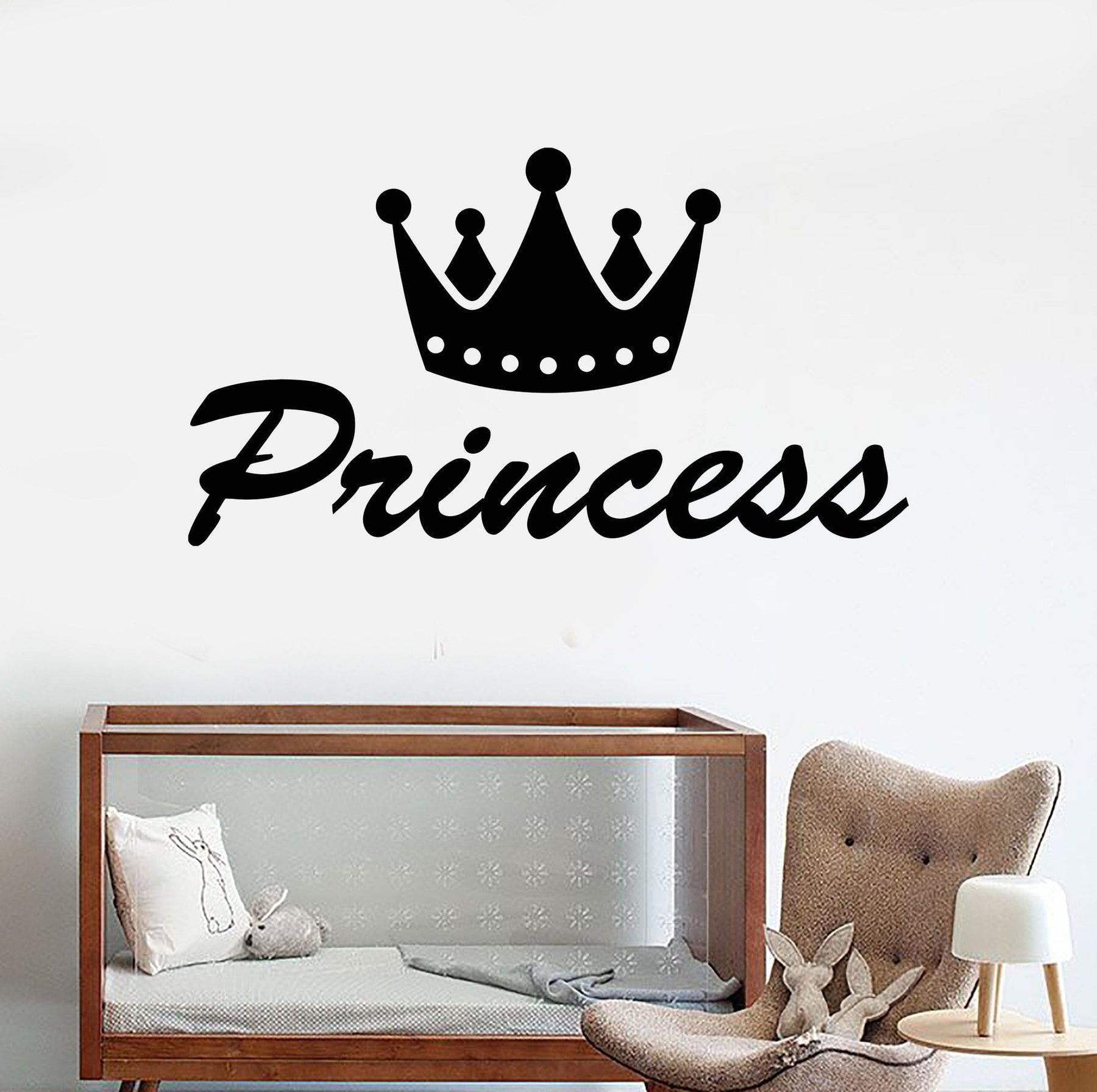 more L232 girls room I/'m a Princess Crown Vinyl Wall Decal fits nursery