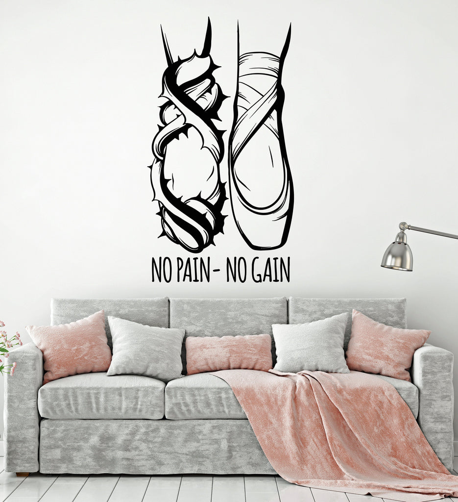 Vinyl Wall Decal Pointe Shoes Ballet Dancer Legs Motivation Quote - Wall decals motivational quotes
