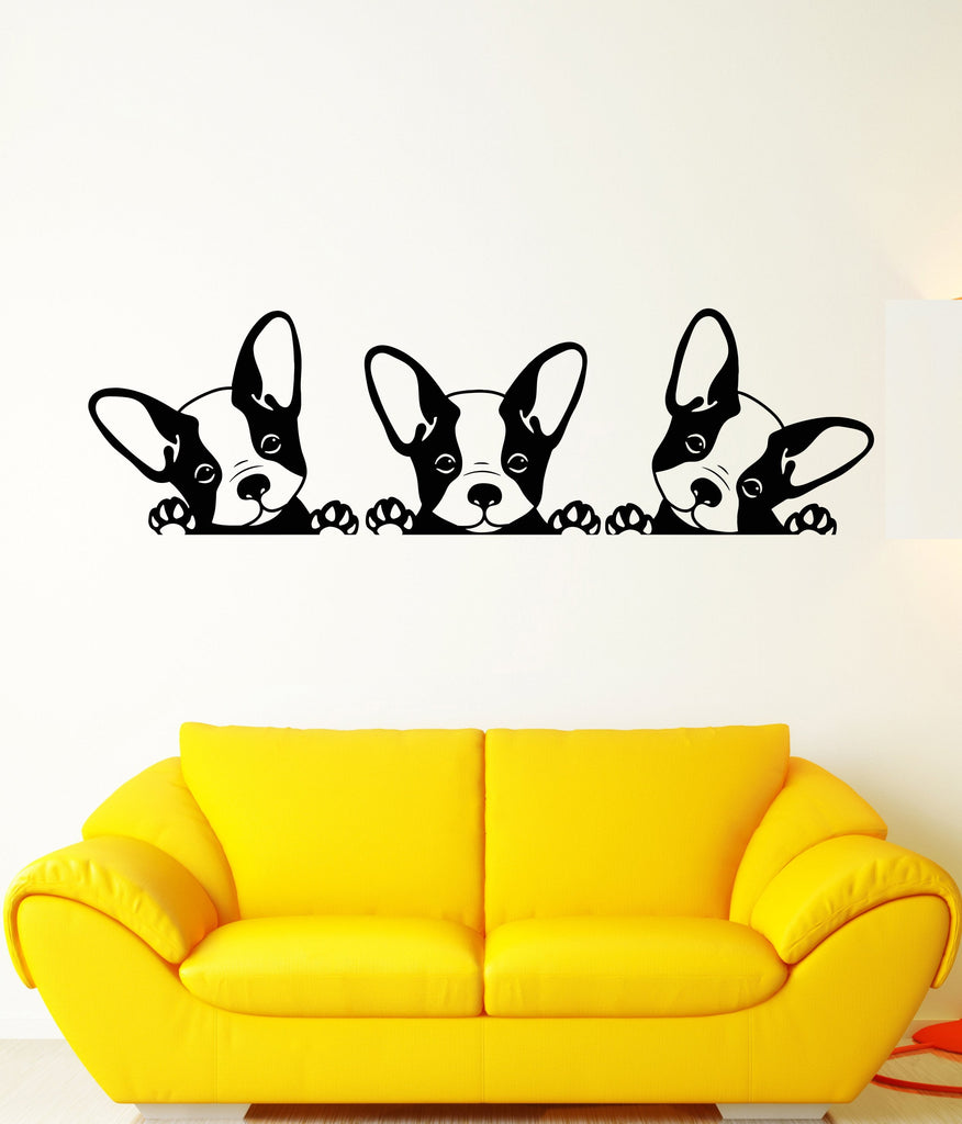 Vinyl Wall Decal Puppies Pets French Bulldog Animals Stickers Unique ...