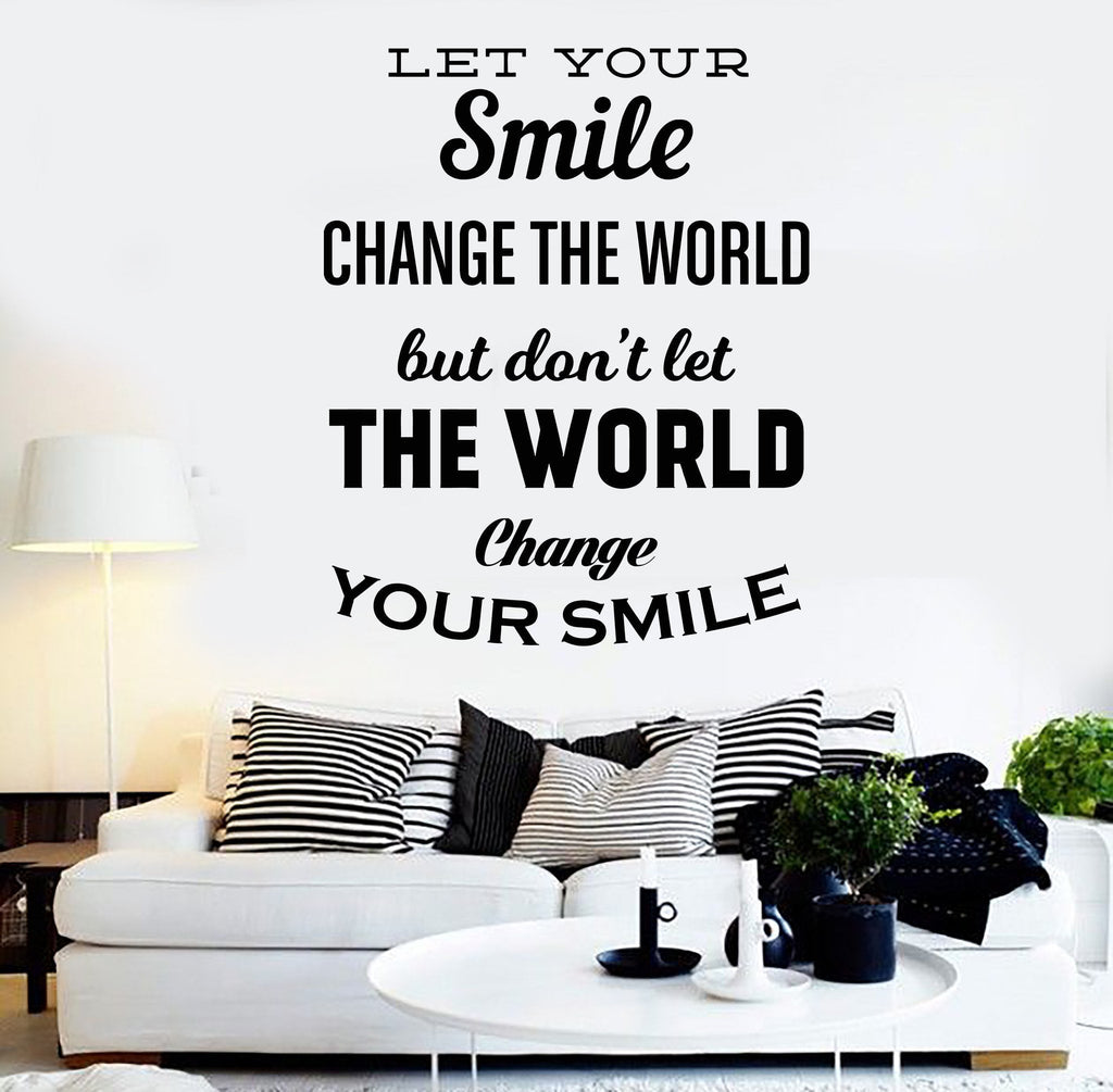 Vinyl Wall Decal Inspired Quote Positive Decor House Interior ...