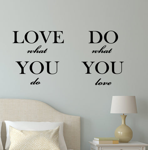 Vinyl Wall Decal Stickers Motivation Quote Words Inspiring Letters Do What You Love 2142ig (22.5 in x 10.5 in)