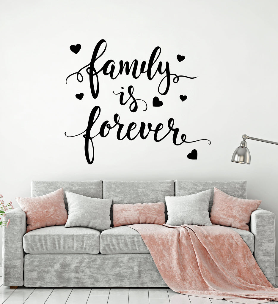 Wall Decals Quotes | Vinyl Wall Decal Quote Words For Home Family Forever Stickers