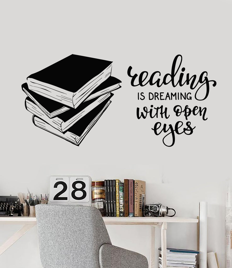 vinyl wall decal books quote reading room library book shop vinyl wall decal books quote reading room library book shop stickers ig4847