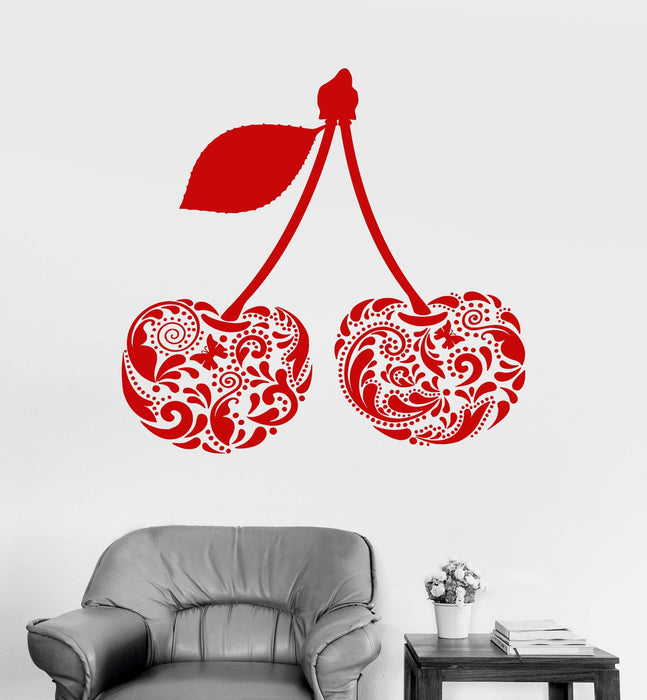 Vinyl Wall Decal Cherry Beautiful Decorations Room Home Art Stickers U Wallstickers4you