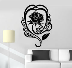 Wall Stickers Vinyl Decal Cool Room Decor Rose Flower Romantic Love Unique Gift (ig478)