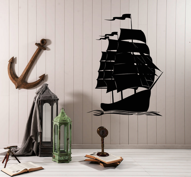 Vinyl Wall Decal Sea Ship Nautical Marine Style For Sailor Stickers (3821ig)