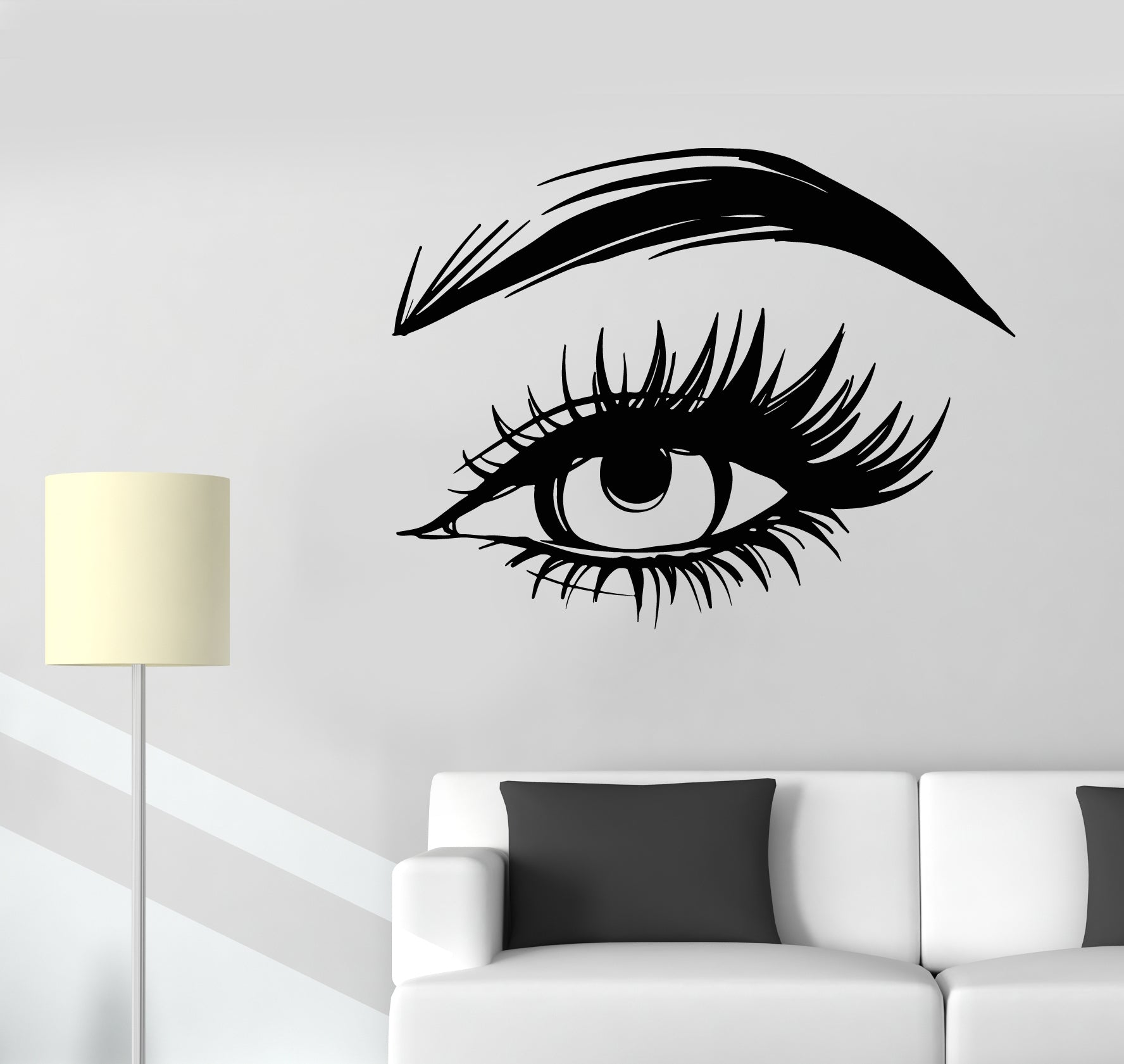 Eyelash Extension Wall Sticker Eyelashes Quote Wall Vinyl Decal Beauty Salon Decor Eye Make Up Removable Window Stickers Ay1122 Wall Stickers Aliexpress