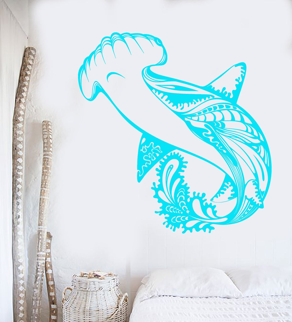 Vinyl wall decal shark marine fish predator sea style stickers vinyl wall decal shark marine fish predator sea style stickers unique gift 927ig amipublicfo Image collections