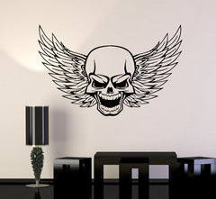 Skull Wall Vinyl Stickers Decal Wings Death Decor for Garage Car (ig493)
