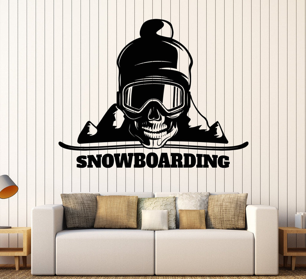 Vinyl wall decal snowboard skull mountain extreme sports stickers vinyl wall decal snowboard skull mountain extreme sports stickers unique gift ig4494 amipublicfo Choice Image