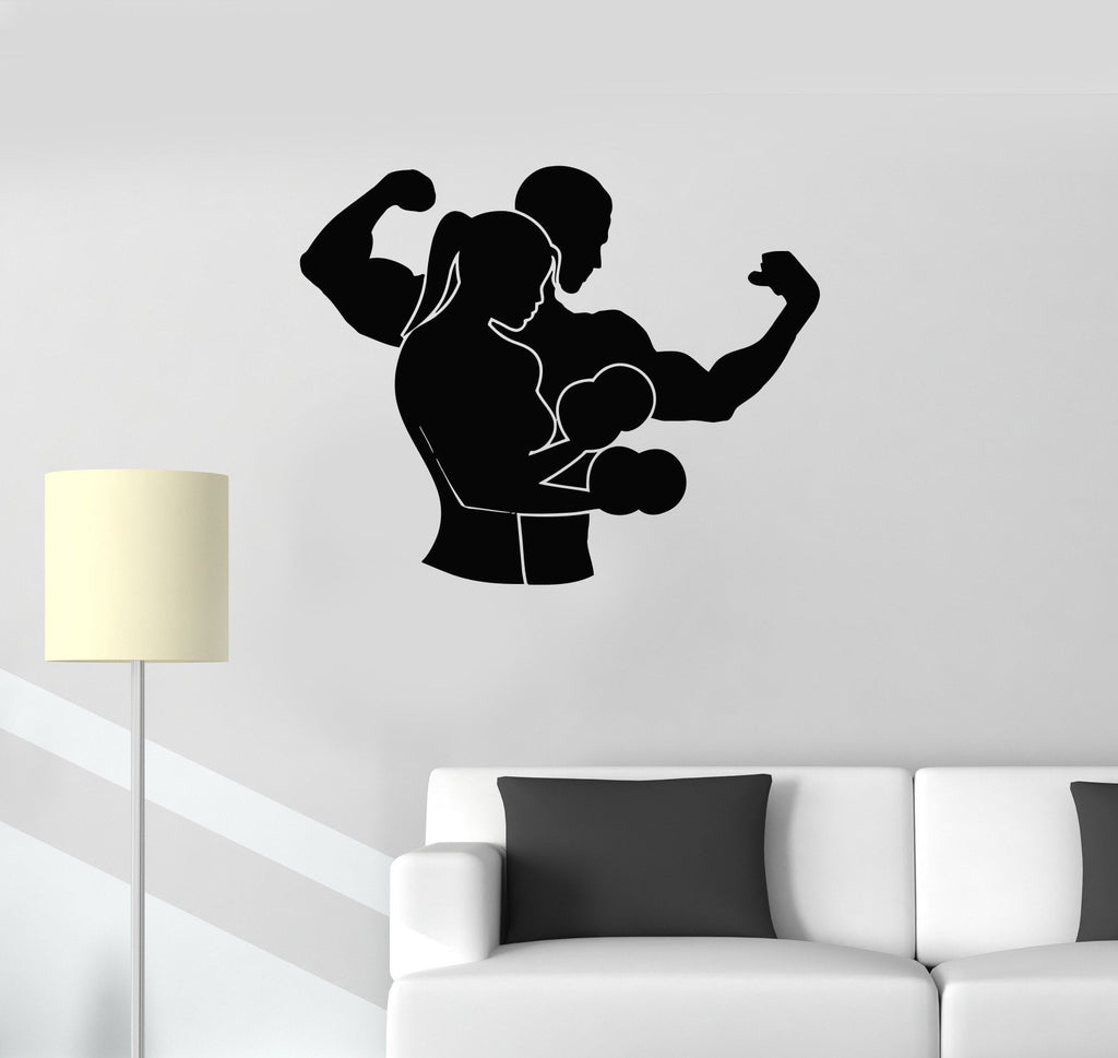 Vinyl Decal Sports Couple Gym Fitness Boxing MMA Martial Arts Wall Stickers Unique Gift (ig2719)