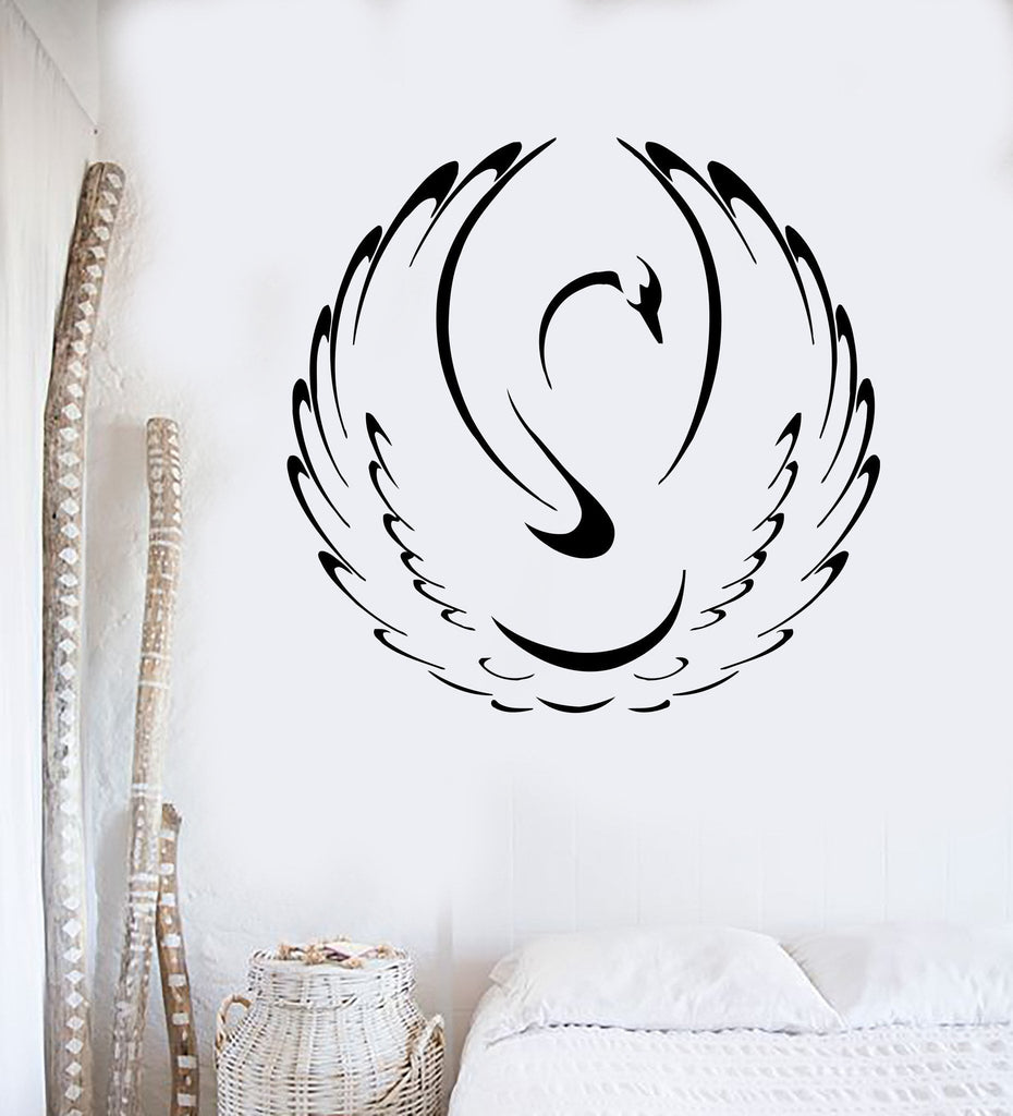 Vinyl Wall Decal Swan Bird Animal Home Art Decor Mural Stickers Unique Gift (ig019)