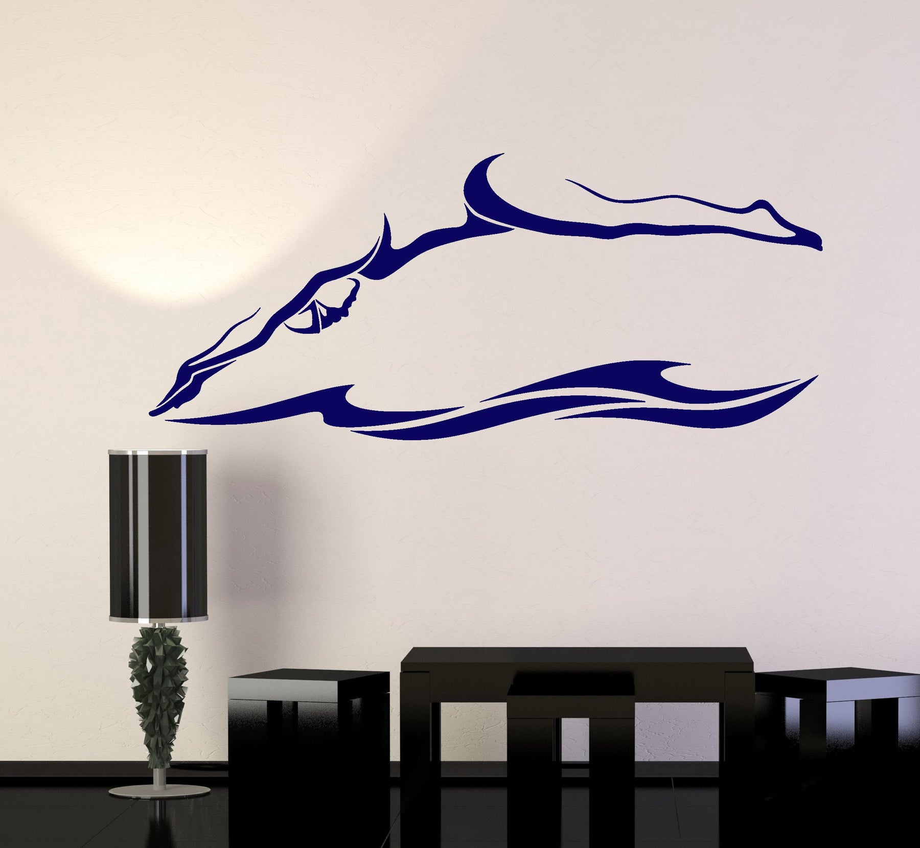 Vinyl Wall Decal Swimmer Swimming Pool Water Sport Swim Stickers Unique  Gift (ig4869)