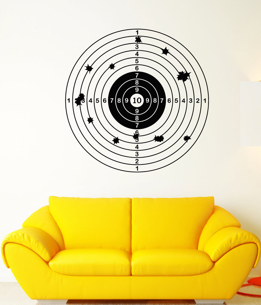 Vinyl Wall Decal Target For Shooting Gallery Shooter Darts Game ...
