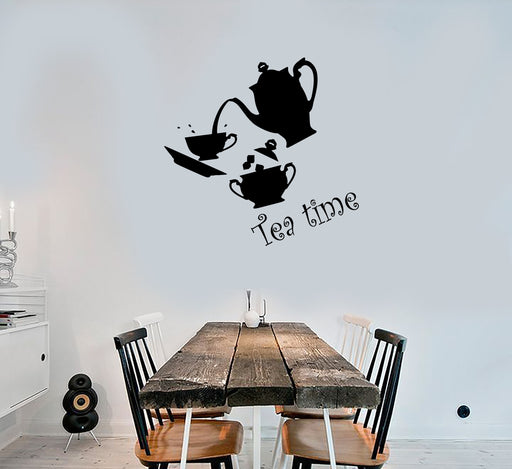 Vinyl Wall Decal Donut Cup Sweet Couple Confectionery Shop Food Stickers g1220