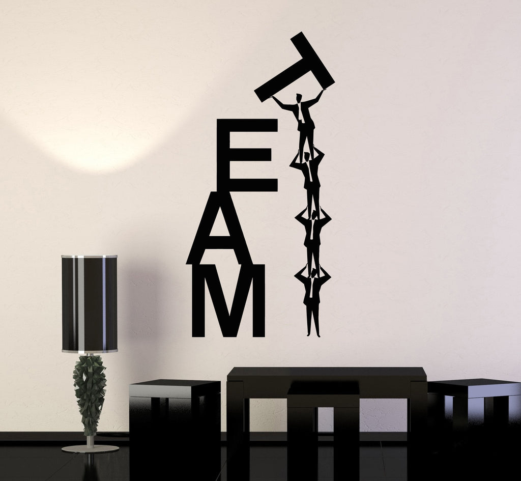 Vinyl Wall Decal Team Work Teamwork Office Business Word Stickers - Vinyl wall decals business