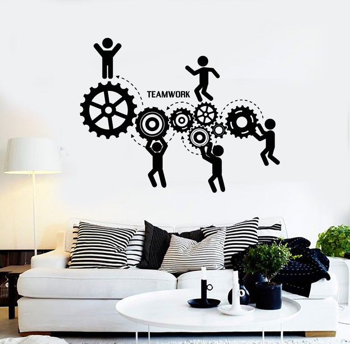 Vinyl Wall Decal Teamwork Office Motivation Worker Stickers Unique Gift (ig4159)