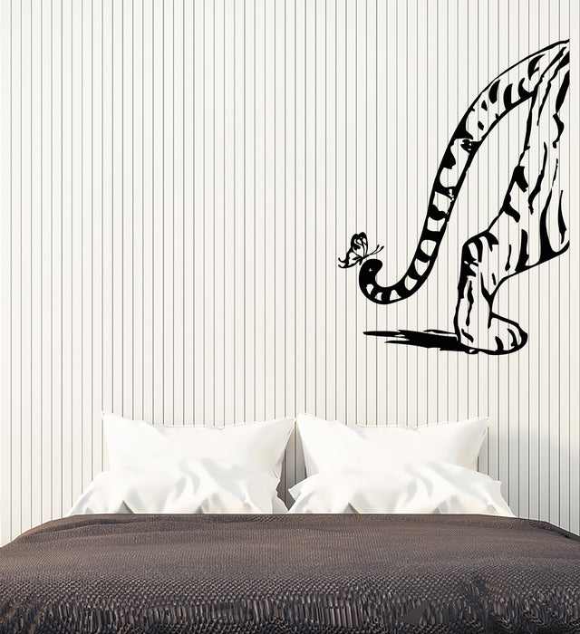 Vinyl Wall Decal Cartoon Tiger Tail Butterfly Animal Nursery Room Decor Stickers (3931ig)
