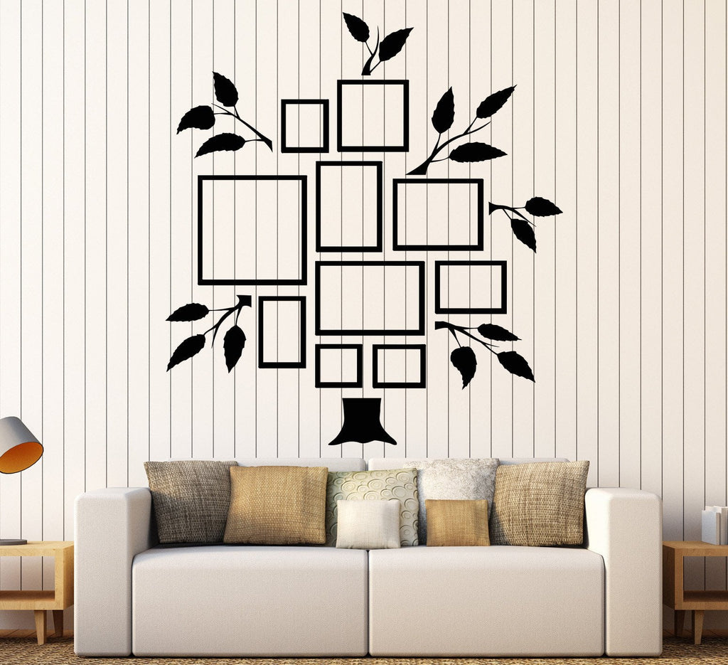 Vinyl Wall Decal Family Tree Frames For Photos Design for Living ...