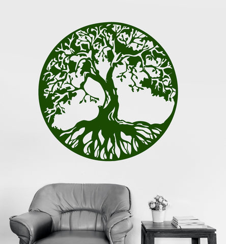 Vinyl Wall Decal Celtic Ornament Tree Symbol Circle Stickers (822ig)