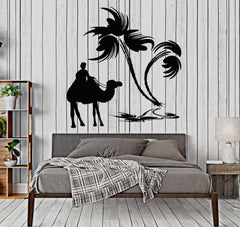 Vinyl Wall Decal Bedouin Oasis Camel Palm Desert Decoration Stickers Unique Gift (040ig)