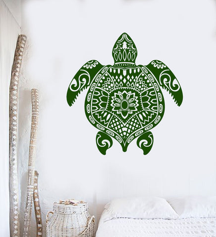 Vinyl Wall Decal Turtle Ocean Animal Sea Marine Decor Stickers (ig4309)