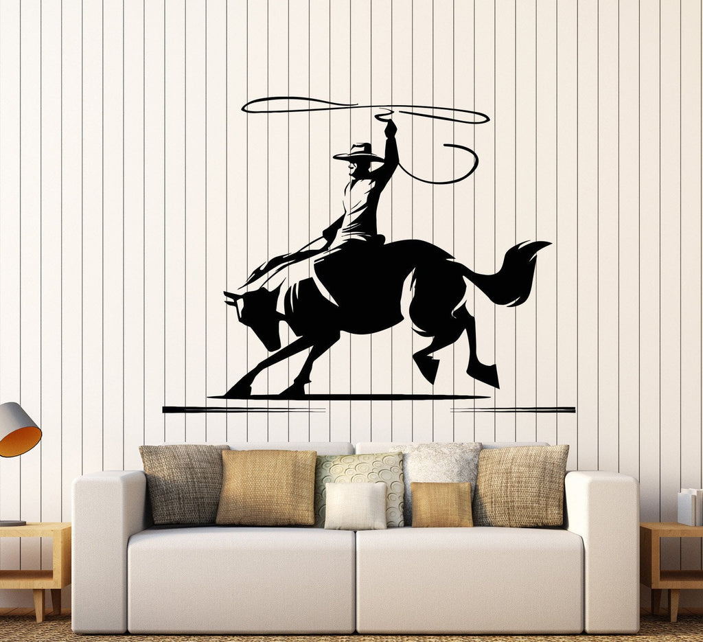 Vinyl wall decal horse cowboy wild west western ranch stickers vinyl wall decal horse cowboy wild west western ranch stickers unique gift 824ig amipublicfo Images