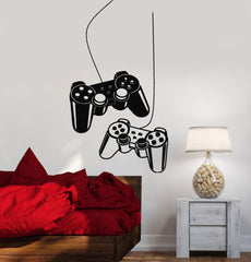 Joystick Wall Decal Gamer Video Game Play Room Kids Vinyl Stickers Art (ig2532)