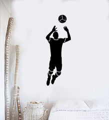 Vinyl Decal Volleyball Game Sport Player Ball Feed Passing Wall Sticker Unique Gift (ed426)