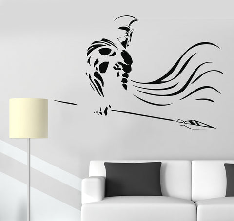 Vinyl Wall Decal Spartan Warrior Spear War Ancient Greece Stickers Unique Gift (1110ig)