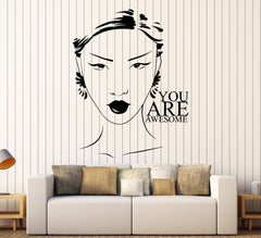 Vinyl Wall Decal Beauty Salon Quote Woman Girl Inspiration Stickers Unique Gift (ig3782)